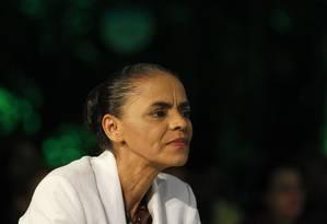 Marina Silva faz pronunciamento em São Paulo após apuração dos votos Foto: Fernando Donasci / Agência O Globo