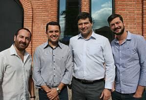 Os sócios da Set You Up (a partir da esquerda): Breno Diogo, Julicezar Barbosa, Rodrigo Menocci e Breno Frias Foto: Divulgação