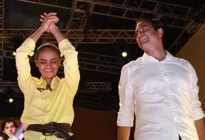O governador eleito de Pernambuco, Paulo Câmara, se encontra com Marina em São Paulo nesta terça-feira Foto: Hans von Manteuffel/29-09-2014 / Agência O Globo