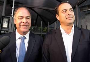 O governador eleito de Pernambuco, Paulo Câmara (PSB), e o senador eleito Fernando Bezerra (à esquerda) se reuniram com Marina Silva em São Paulo Foto: Fabricio bomjardim / Brazil Photo Press