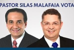 Pastor Silas Malafaia se gaba por ter eleito Sóstenes Cavalcante Foto: Reprodução Twitter