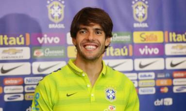 Kaká em foto de arquivo. Veterano meia está de volta à seleção Foto: Divulgação / CBF