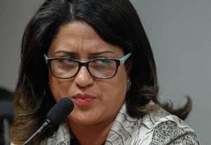 Meire Poza em depoimento à Comissão Parlamentar de Inquérito (CPI) mista da Petrobras Foto: André Coelho / Agência O Globo