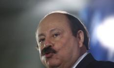 Levy Fidelix, do PRTB, no debate para presidente na TV Globo Foto: Marcelo Carnaval / O Globo