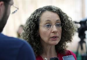 Candidata derrotada à Presidência, Luciana Genro anuncia veto a Aécio Foto: Michel Filho / Agência O Globo
