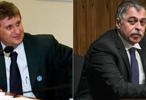 O doleiro Alberto Youssef e o ex-diretor da Petrobras Paulo Roberto Costa Foto: Montagem/O Globo