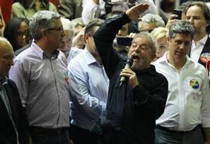 Lula participa de plenária de militantes do PT em São Paulo Foto: Michel Filho / Agência O Globo