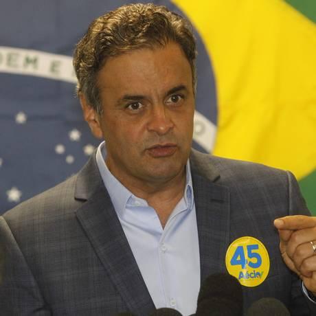Candidato do PSDB à Presidência da República, Aécio Neves Foto: Fernando Quevedo / O Globo