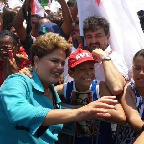 A presidente Dilma Rousseff teve agenda em São Paulo neste domingo Foto: Divulgação