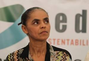 Marina Silva durante o 1º Congresso Nacional do grupo REDE Sustentabilidade Foto: Ailton de Freitas/17-5-2014