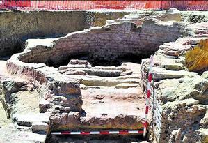 Os restos do porto redescobertos: armazém, fornos e aposentos dos marinheiros Foto: Universidad de Huelva