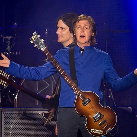 Paul McCartney em apresentação em Fortaleza, em 2013 Foto: Marcos Hermes / Divulgação