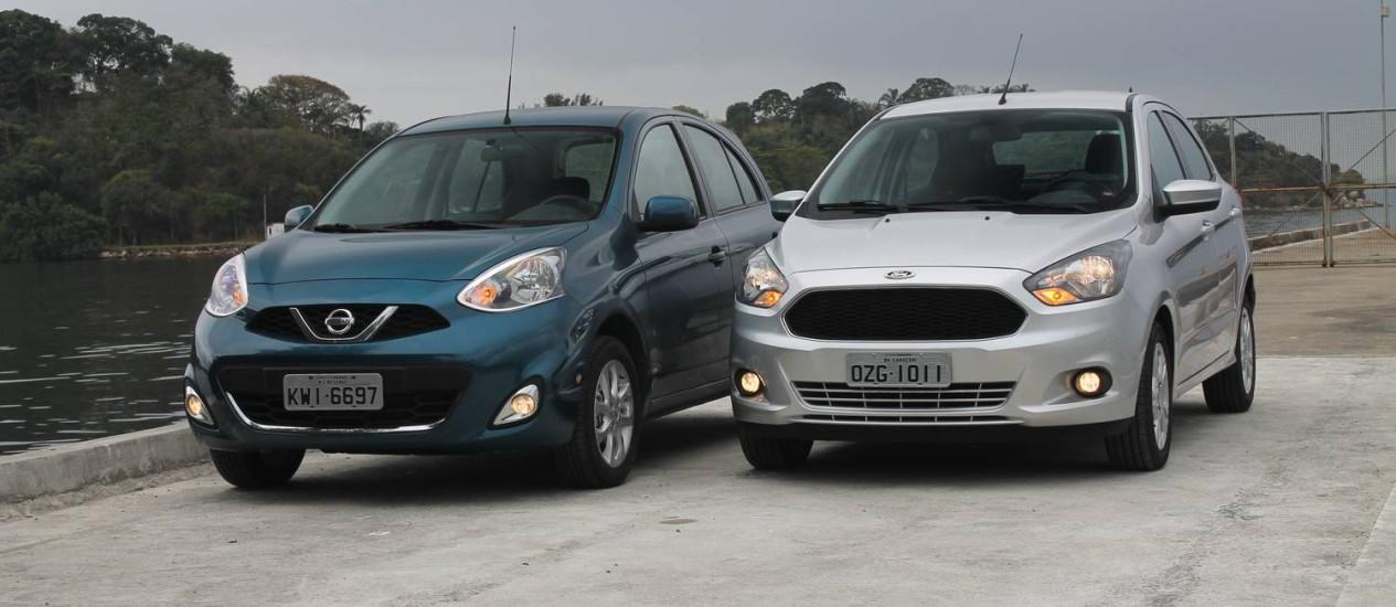 Ca  Comparativo Ford Ka X Nissan March Henrique Rodriguez
