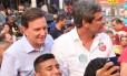 Crivella faz agenda de campanha ao lado de Lindbergh e Clarissa Garotinho, em Nova Iguaçu