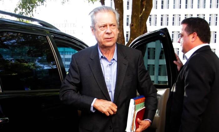 José Dirceu foi condenado a sete anos e 11 meses de prisão Foto: Ailton de Freitas / Agência O Globo