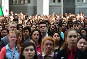 Millennials mostraram-se otimistas Foto: Shannon Stapleton / Reuters