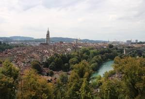 O centro histórico de Berna, na Suíça, considerado Patrimônio da Humanidade pela Unesco Foto: Eduardo Maia / O Globo