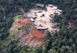 Clareiras: local de retirada de madeira ilegal em uma área próxima da Santarém Foto: Otávio Almeida/ Greenpeace