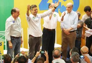 O candidato pelo PSDB à Presidência da República, Aécio Neves Foto: Michel Filho / Agência O Globo