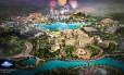 O projeto do futuro Universal Studios de Pequim, com inauguração prevista para 2019