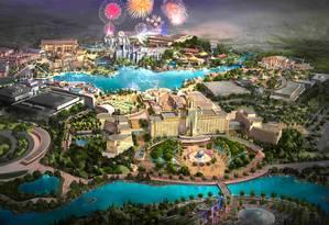O projeto do futuro Universal Studios de Pequim, com inauguração prevista para 2019 Foto: Reprodução