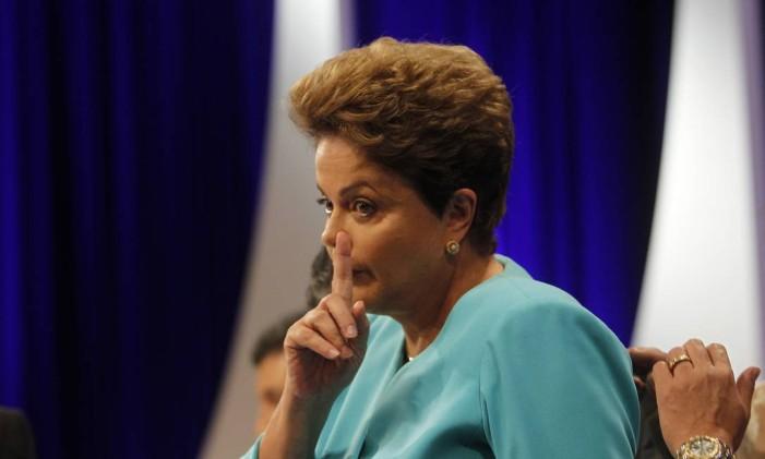 """Dilma, defendeu um """"projeto que vê na justiça social a única maneira de levar o país ao futuro"""" Foto: Fernando Donasci / Agência O Globo"""