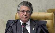 Marco Aurélio Mello durante sessão no Supremo Tribunal Federal (STF) Foto: André Coelho / Agência O Globo