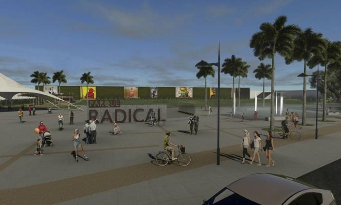 RI- Reprodução do futuro Parque Radical da Lagoa, que será construído na área onde funcionava a Estação do Corpo Foto: Divulgação