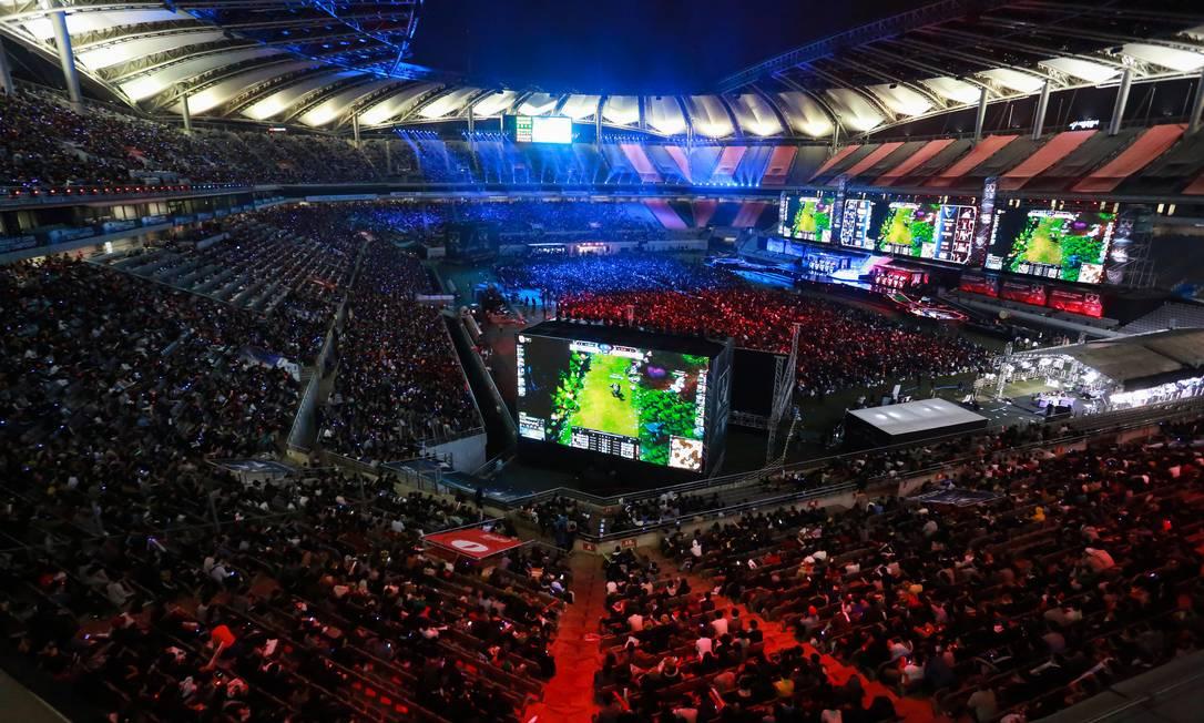 Estádio de Sangnam cheio de aficionados por 'League' Foto: Divulgação