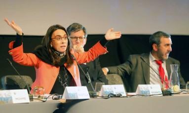 Debate durante a 70ª Assembleia Geral da Sociedade Interamericana de Imprensa Foto: El Mercurio/GDA