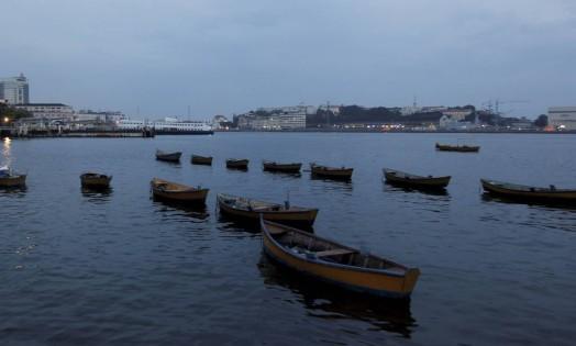 O dia amanheceu nublado nesta segunda-feira Foto: Gabriel de Paiva / Agência O Globo