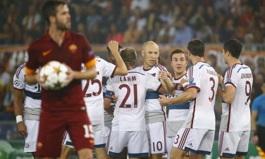 Na capital italiana, um massacre alemão: o Bayern de Munique faz 7 a 1 em cima do Roma, 5 a 0 só no primeiro tempo Foto: STEFANO RELLANDINI / REUTERS