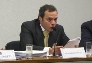 Lucio Bolonha Funaro, em depoimento na CPI das ONGs, no Senado Foto: Divulgação