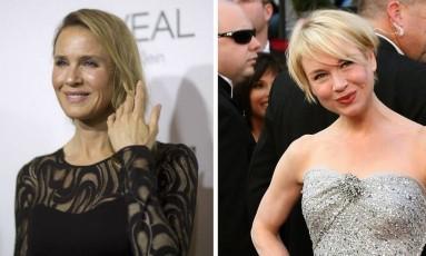Renée Zellweger, apareceu irreconhecível no Women in Hollywood Awards, na noite de terça-feira, em Los Angeles Foto: Reuters