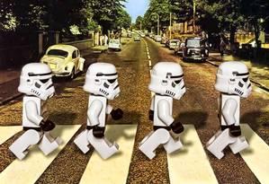 Star Wars de Lego na Abbey Road: tudo tem a ver com o jeito de andar Foto: Terceiro / Arquivo