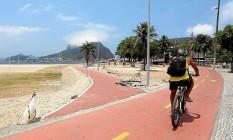 Nova vista. Trajeto passará próximo ao espelho d'água e diminuirá risco de atropelamento de ciclistas Foto: Agência O Globo / Hudson Pontes