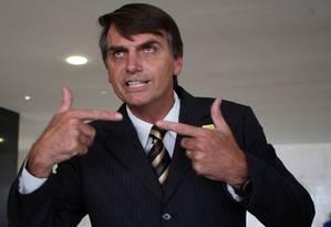 O deputado federal Jair Bolsonaro (PP-RJ) foi o mais votado no Rio Foto: Gustavo Miranda