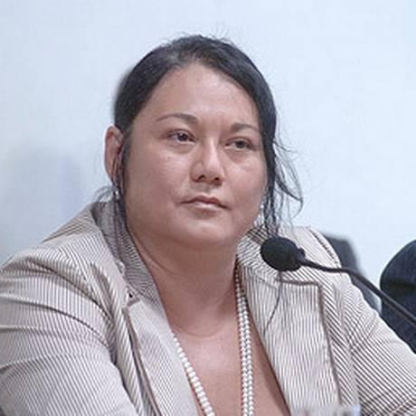 Nelma Kodama na CPI dos Bingos, em 2006 Foto: Arquivo