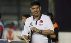 O técnico Joel Santana: 11 jogos no comando do Vasco na Série B, com cinco vitórias, quatro empates e duas derrotas Foto: Guilherme Pinto / Extra