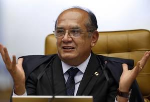 O ministro Gilmar Mendes, em sessão do STF Foto: Nelson Jr. / STF/17-9-2014