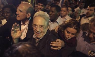 Ex-presidente Fernando Henrique Cardoso também esteve no ato Foto: Nacho Doce / Reuters