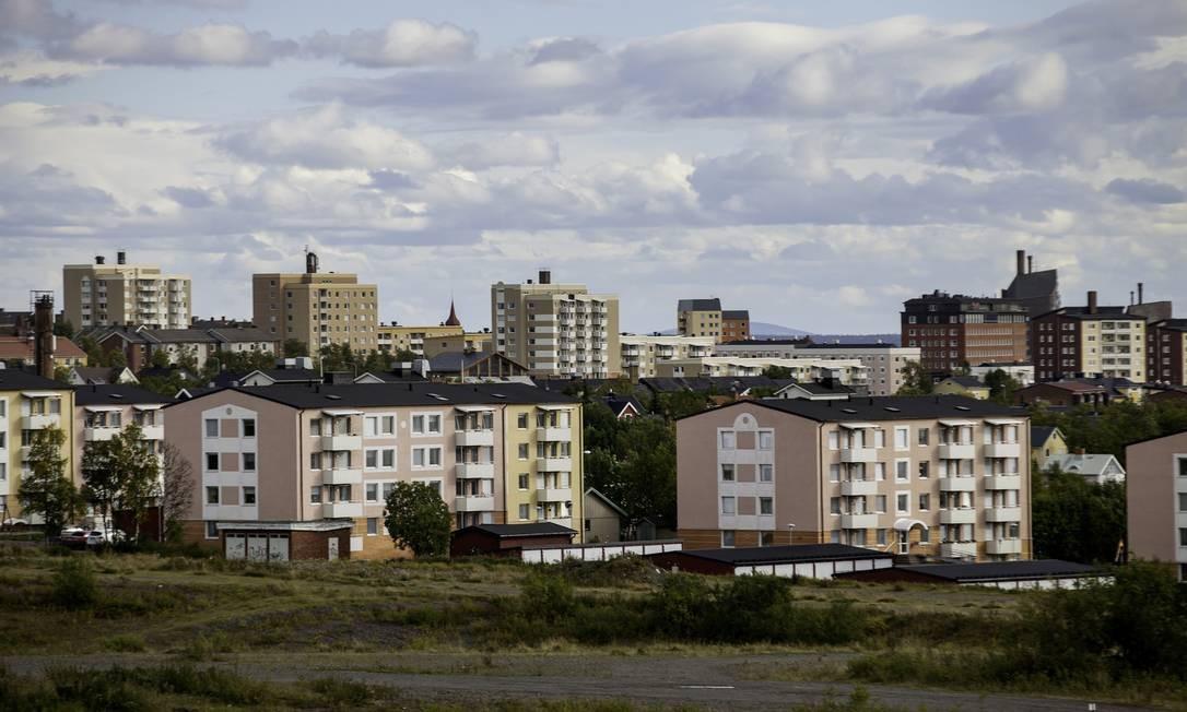 O tecido urbano de Kiruma: cidade no Ártico está de malas prontas para evitar ser tragada pela maior mina de minério de ferro do mundo Foto: Casper Hedberg / Bloomberg/21-8-2013
