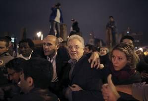 O ex-presidente Fernando Henrique Cardoso estava entre políticos presentes ao ato pró-Aécio em São Paulo Foto: NACHO DOCE / REUTERS