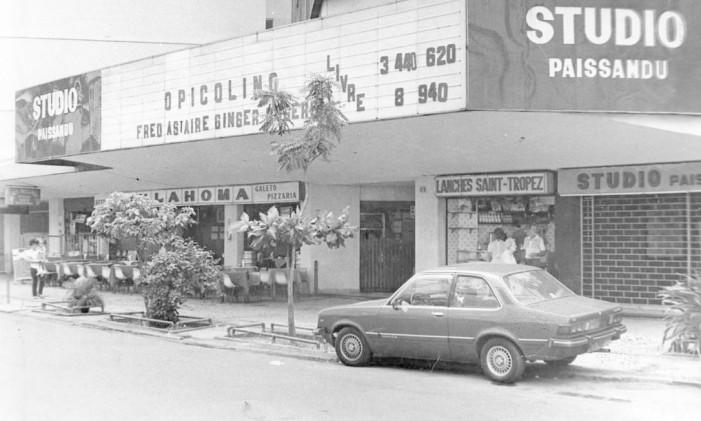 Cine Paissandu, em 1985 Foto: Jorge Alberto / Agência O Globo