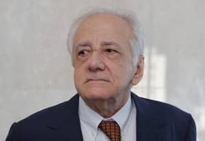 O novo imortal Evaldo Cabral de Mello em sua eleição para a ABL Foto: Carlos Ivan / Agência O Globo