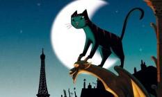 """Duas vidas. Cena de """"Um gato em Paris"""": de dia, Dino é um dócil bichinho de estimação; à noite, um habilidoso ladrão Foto: divulgação / Reprodução"""