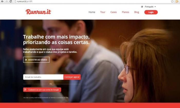 A Run run it é uma plataforma para gerenciamento de equipes Foto: Reprodução