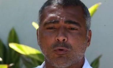 Romário em entrevista ao GLOBO: críticas à volta de Dunga à seleção brasileira Foto: Reprodução de vídeo
