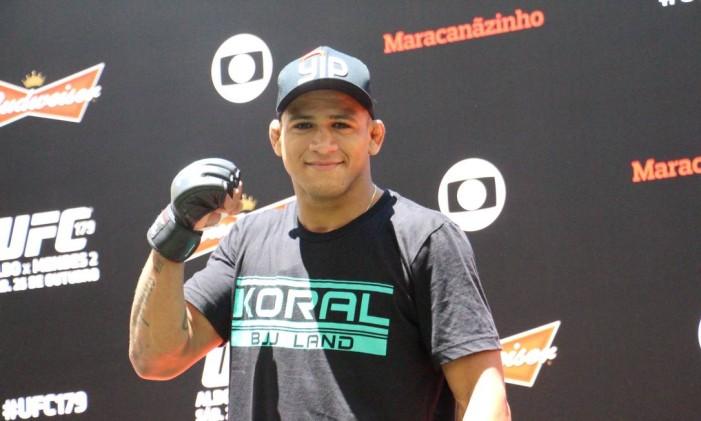 Cinturão. O niteroiense Gilbert Durinho, que estreia na categoria peso-leve (70kg), dará mais um passo rumo ao sonho de ser campeão no UFC Foto: LEONARDO FABRI / Divulgação