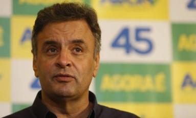 Candidato do PSDB à Presidência da República faz pronunciamento Foto: Hudson Pontes / O Globo
